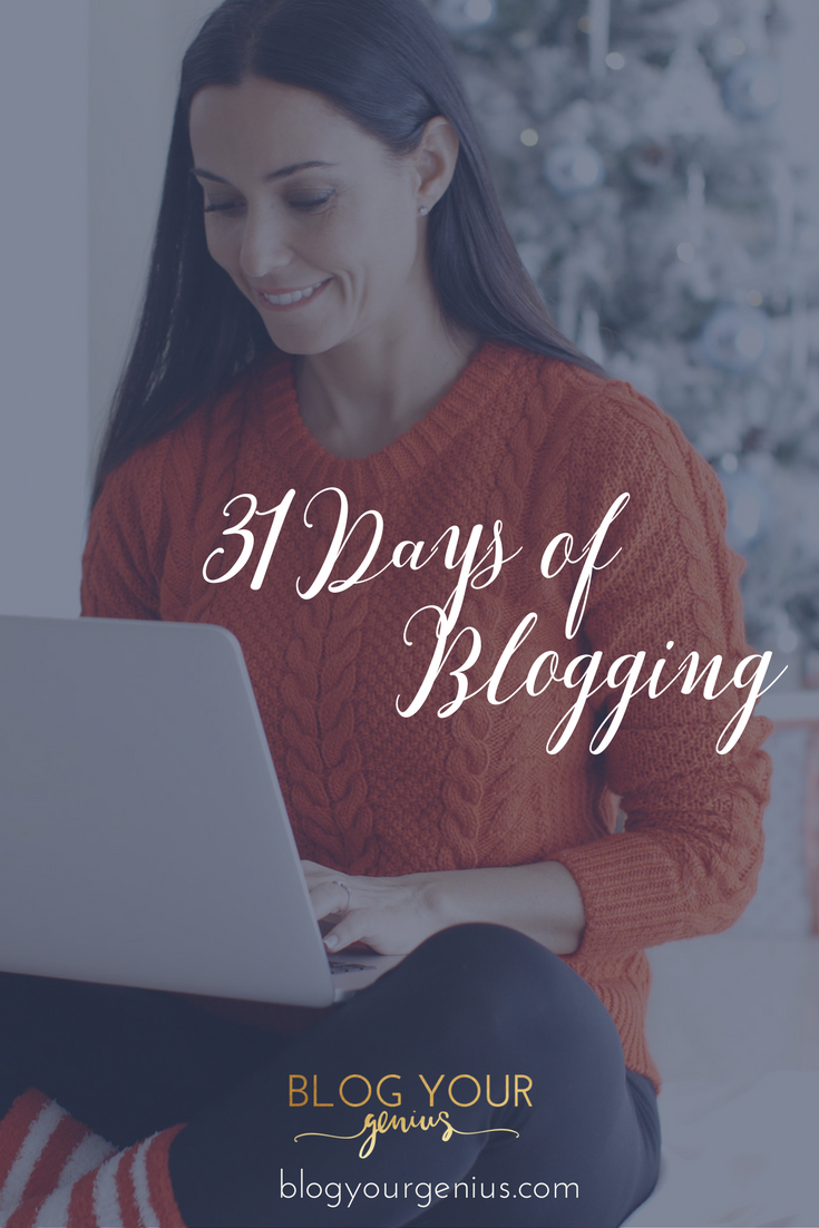 Celebrating Blogmas with 31 Days of Blogging