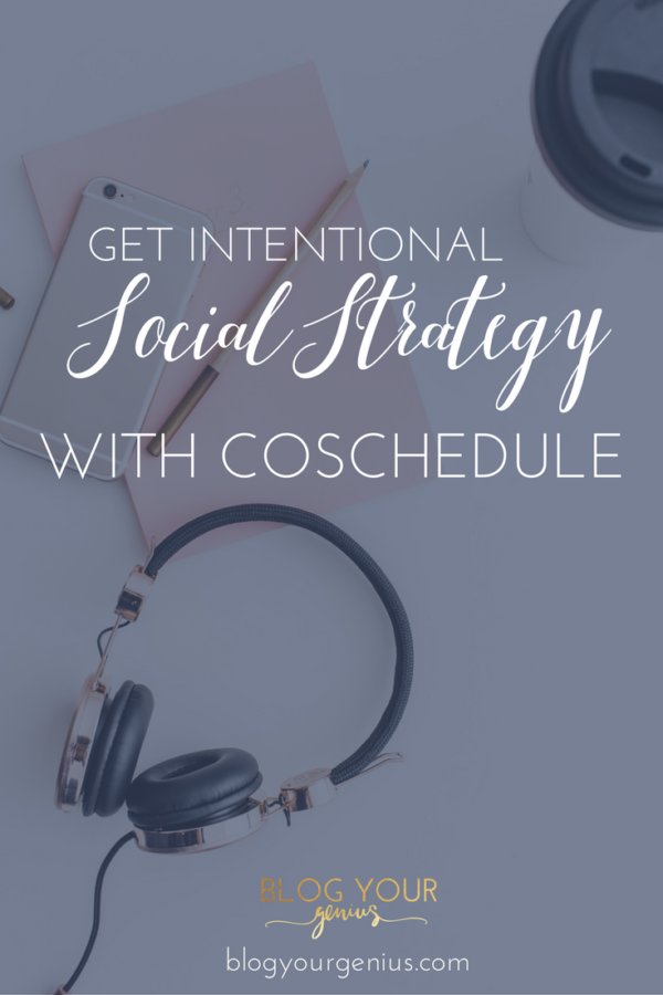 Intentional Social Strategy with Coschedule
